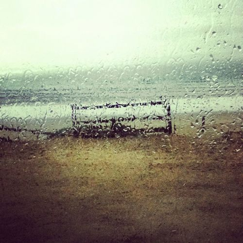 rainy day Beach Rain Rainy Days Reflection Sand Sea Shore Water First Eyeem Photo