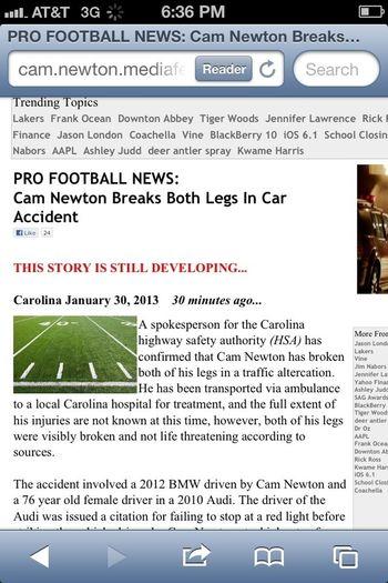 Pray for cam newton