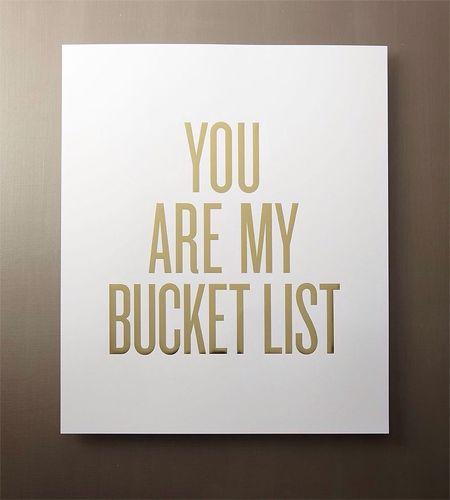 Bucketlist You WantYou Mmmmm