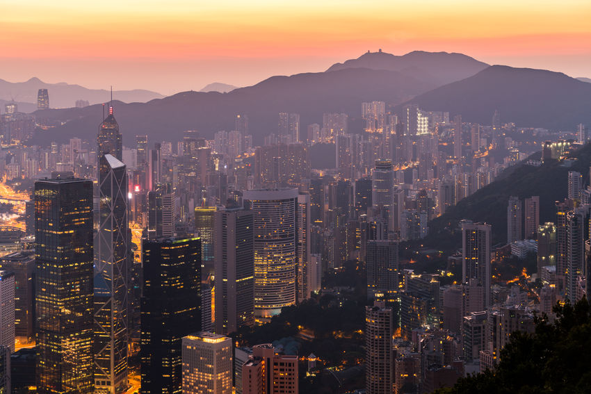 Hong Kong City in the morning ASIA Architecture City City Life City Street Cityscape Hong Kong Hong Kong City Hong Kong Architecture HongKong Nature Sunlight The Peak Victoria Harbour Bank Of China Building cityscapes Hongkongphotography Landscape Motning Mountain Mountain Range Peak Sunrise
