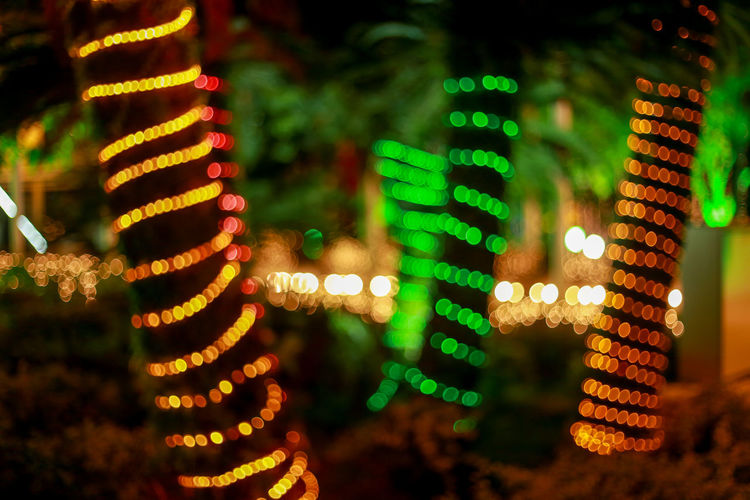 Artistic blurred background, colorful lights