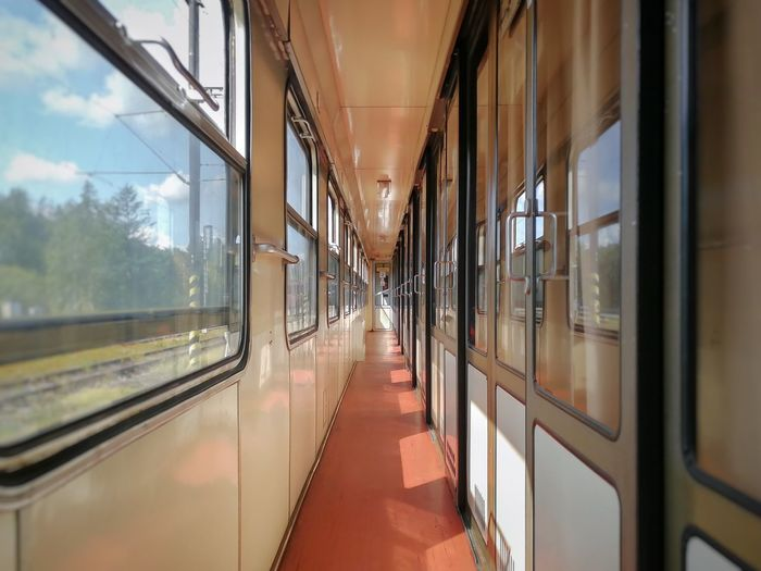Empty Corridor Of Train