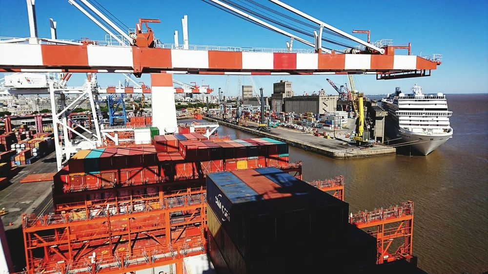 Shipping  Transportation Harbor Commercial Dock Taking Photos From My Point Of View Travel Photography In Buenos Aires 🇦🇷 On A Container Ship