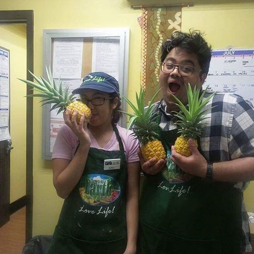 Things we get into at work so much trouble I tell u!!! Spongebobshouse Babypineapple Funnyppl
