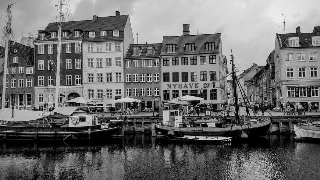 Copenhagen, Denmark Copenhagen Harbour Copenhagen Visitdenmark Boats Monochrome Black And White Black And White Photography Harbour View Harbour