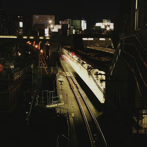 Railway Lighttrail Tokyo People Night View
