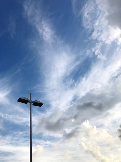 Light pole Light Pole Light Post Cloud - Sky Sky Low Angle View No People Blue Outdoors Day Nature Beauty In Nature
