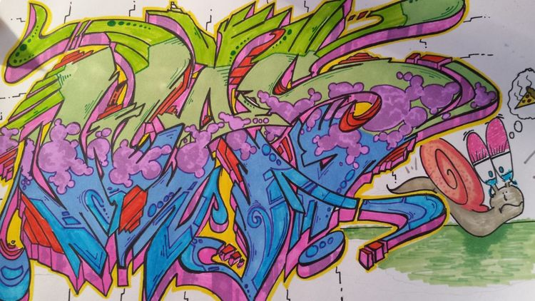 WAS?! Colors Evolution  Graffiti Graffiti Art Kalligraphie Leisure Activity Letters Letters Art No People Outdoors Process Sketch Sketching Was Ist Das?