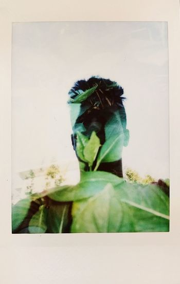 Portraits Instax Plants One Man Only One Person Abstract Double Exposure Nature Day Multiple Image Tree Leaf