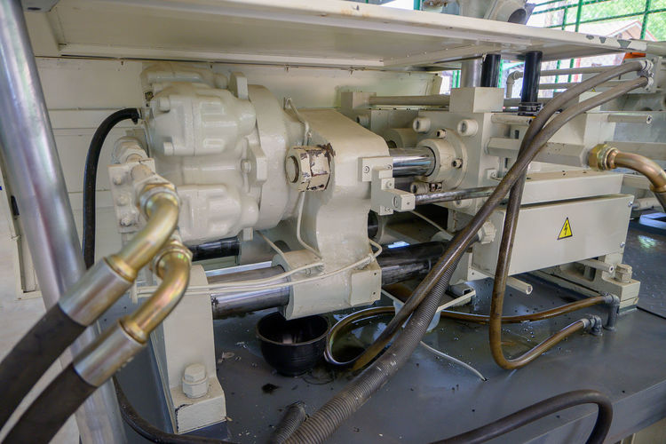 Close-up of machinery in industry