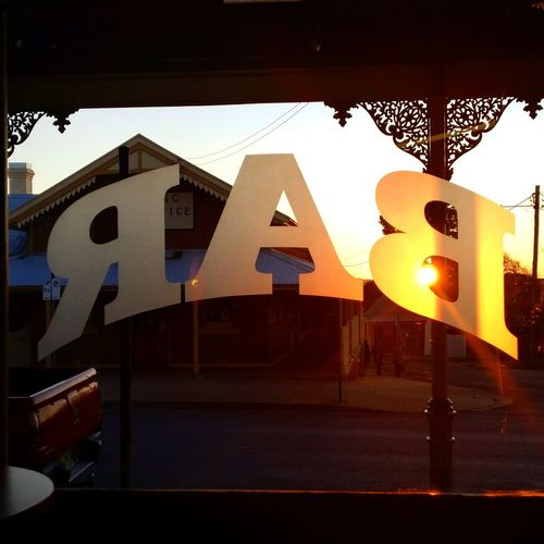 Sundowners in this gorgeous one-horse town Australia Travel Bar Sunset