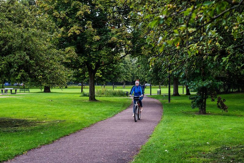Gloucester Gloucester Park Park Garden Nature Streetphotography Woman Riding Bike Bicycle Outdoor