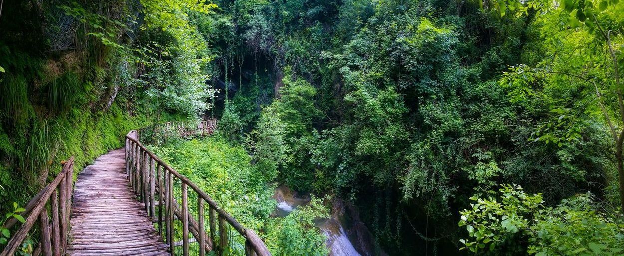 Footbridge at caves caglieron