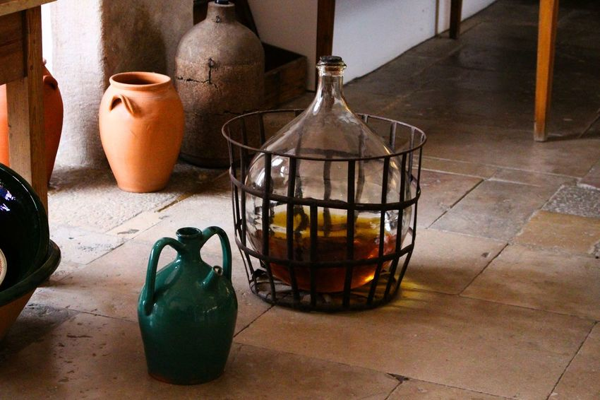Alcohol Bottle Close-up Day Exceptional Photographs Eye4photography  Floor Floor Tiles From My Point Of View Glass - Material Indoor Indoors  Light And Shadow My Point Of View No People Old Old-fashioned Perspective Pot Pott Pottery Storage Tank Wine Wine Bottle Wine Moments