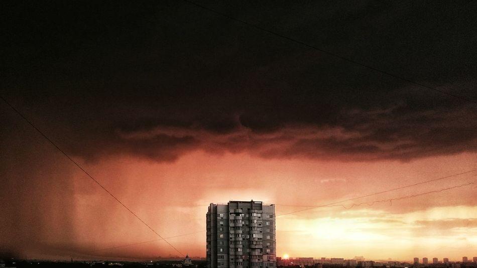 МояМосква Mobilephotography Clouds And Sky Moscow, Москва Panorama Colorful Mycity Cityscape Russia Sunlight