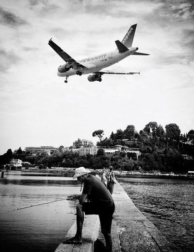 Photography Airport & Fisher Man Black & White Greece