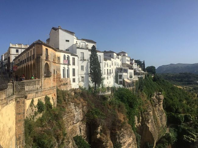 Cliffs Dream Dream Location Architecture Building Exterior Clear Sky Day Glamour Holiday Houses On Rocks Mountain Nature No People Outdoors Rocks Ronda Houses Spain Tourism Tree Villa On Hills Villas On Rock