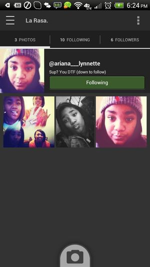 Follow her she's pretty and coo af
