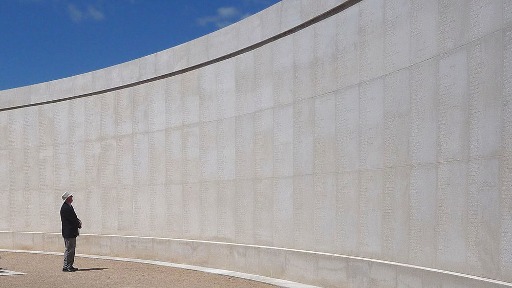 Adult Adults Only Architecture Day England Full Length Memorial National Memorial Arboretum One Man Only One Person Outdoors People Real People Remembrance Sky Staffordshire Standing