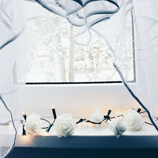 Window Fairy Lights Indoors  No People Plate Fragility Close-up Christmas Ornament Day Japanese Tea Cup