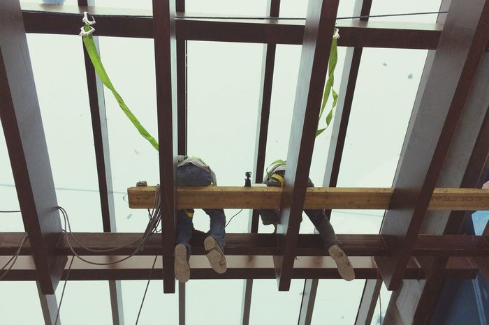 Eyeem Philippines Safety First! PPE Working Hard Working At Heights Working Together Glass Roof Safe EyeEm Phillipines Eyeem Philippines Album Pinoypotograpiya