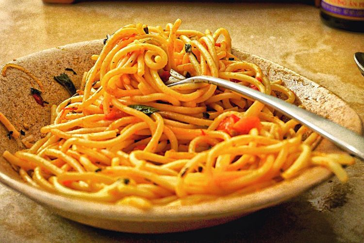 Food And Drink Pasta Food Freshness Indoors  Italian Food Noodles Ready-to-eat No People Spaghetti Healthy Eating Close-up Plate Table Day L. Jeffrey Moore GH2
