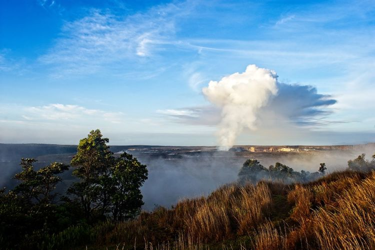 Halemaʻumaʻu Volcanoes National Park Hawaii Big Island Hawaii Cloud - Sky Geology Environment Scenics - Nature Beauty In Nature Erupting Volcano Landscape Power In Nature No People Physical Geography Steam Outdoors Volcanic Crater