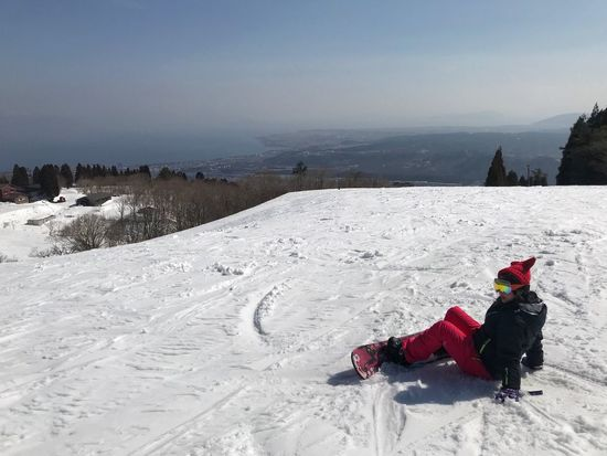 Resting Snowboarding Winter Snow Cold Temperature One Person Beach Vacations Outdoors