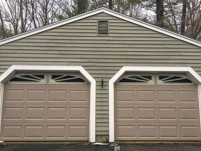 Garage Garage Door Double Doors Doors Wood Paneling Architectural Detail Architecture Construction Design Carpentry Customdesign Storage Symmetry Angles And Lines Lines And Shapes Geometry Pattern, Texture, Shape And Form Structure Modern Contemporary Car Parking Residential Structure Building Exterior Painted Wood Siding
