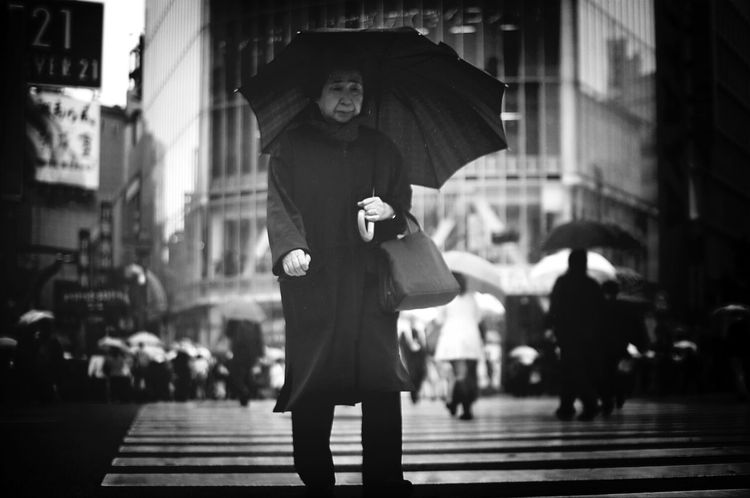 Tokyo. Shibuya Crossing. Street Photography Woman Japan Rain