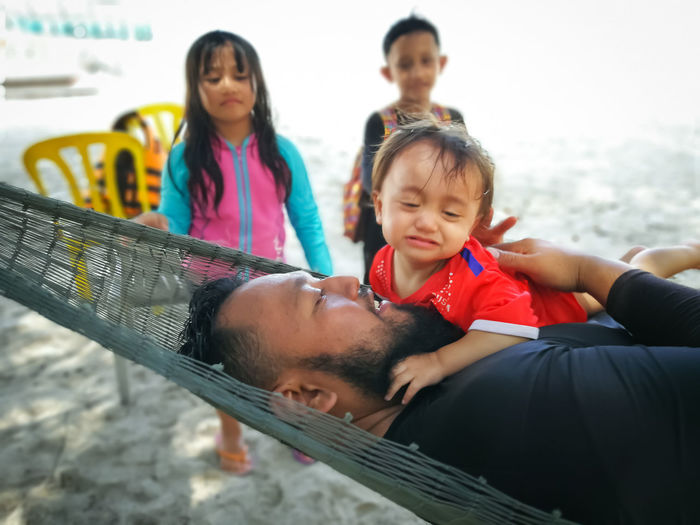 Pulau Redang, Terengganu. Childhood Child Togetherness Women Men Females Group Of People Real People Males  Family Bonding Boys Lifestyles Leisure Activity Girls Emotion Adult People Love Sister Daughter Innocence Positive Emotion