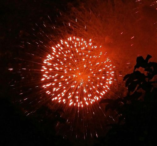 Red Sparks. Fireworks Sparkling Exploding Fireworks Illuminated Cropped LG G4 Philippines Backyardphotography Beauty In The Darkness Learn & Shoot: After Dark Night Photography
