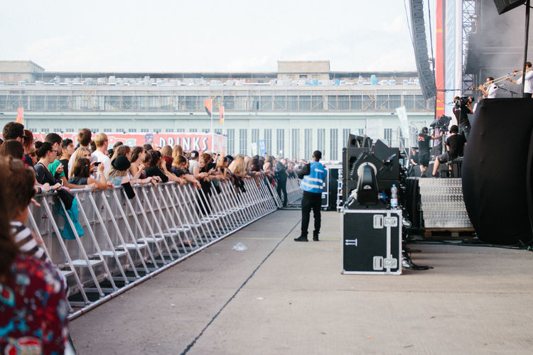Berlin City Life Concert Concert Photography Crowd Festival Festive Season From My Point Of View Front Row Lifestyles Live Music Lolla Lollaberlin Lollapalooza Lollapalooza2015 Music Music Festival Musician Railing Street Tempelhofer Feld