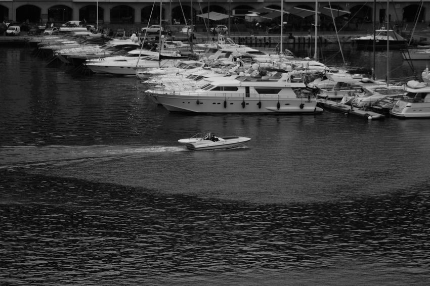 Architecture Boat Day Harbor Mode Of Transport Monaco Moored Nautical Vessel No People Outdoors Port Monaco Sailboat Sailing Sea Speedboat Transportation Water Yacht Yachting The City Light