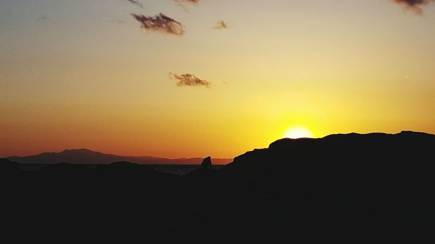 Sunset Silhouette Beauty In Nature Landscape Outdoors Nature Astronomy Sky No People Galaxy