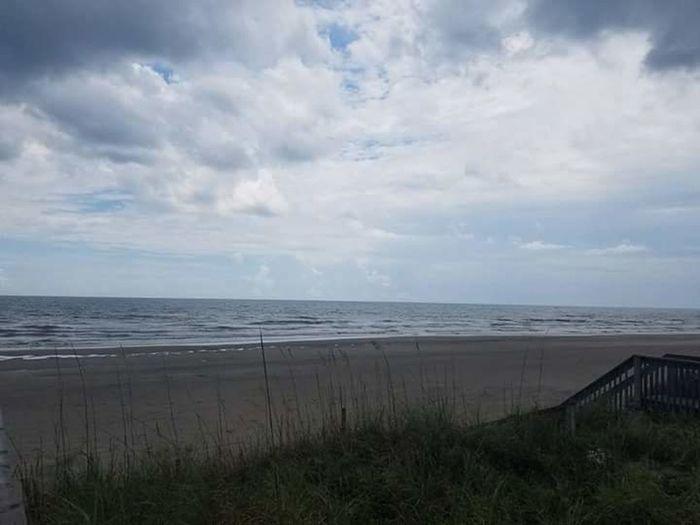 Topsail Island, North Carolina Ocean Atlantic Ocean Sky Blue Sky Beach Sand