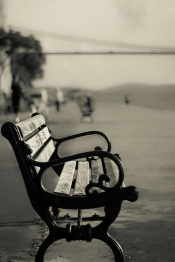 Bench Blackandwhite Blackandwhite Photography Kurucesme Istanbul Turkey