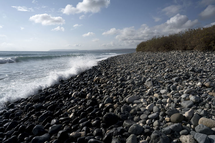 Beach Beach, Pebbles, Beach Pebbles Beach Beauty In Nature Cloud - Sky Day Horizon Over Water Long Exposure Motion Nature No People Outdoors Pebble Pebble Beach Power In Nature Scenics Sea Shore Sky Water Wave