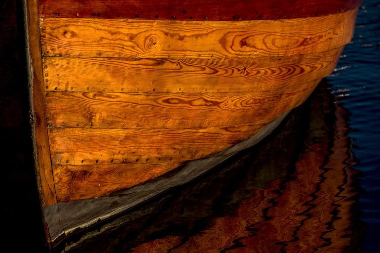 wooden boat in