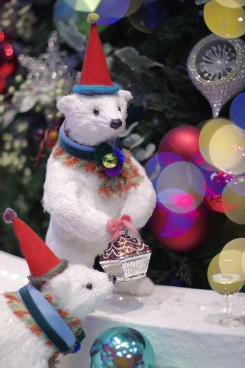 JR名古屋タカシマヤのクリスマスイルミ・・・の一部分(笑) 説明しないとどこだかわからないのは毎度の事。(^^;) イルミネーション Illumination Christmas Decoration Christmas No People Close-up Bear Bears クリスマス クリスマスイルミネーション 玉ボケ 玉ボケ部