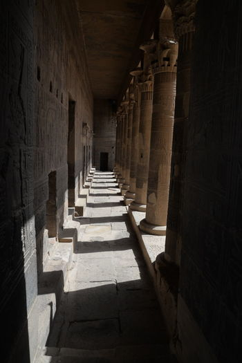 Ancient Ancient Civilization Arcade Arch Architectural Column Architecture Belief Building Built Structure Colonnade Corridor Direction History In A Row Indoors  No People Place Of Worship Religion Shadow Spirituality Sunlight The Past The Way Forward