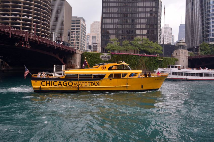 Boat Business Chicago Chicago Riverwalk City Life Downtown Chicago Mode Of Transport Modern Nautical Vessel On The Move Outdoors River Taxi Transportation Travel Urban Water Water Taxi Seeing The Sites This Week On Eyeem Traveling Travel Photography Nice View Nice Embrace Urban Life