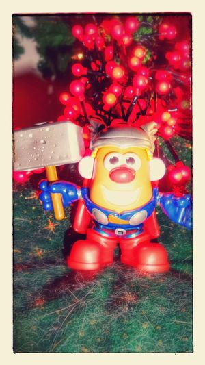 By Thor! par Thor ! Smile Mr. Potato Head Thor  Christmas Toy Story Superhero Superheroes Super Heros  Christmas 2015 Joyeux Noël Merry Christmas Life In Colors Pic Of The Day Fresh Colors