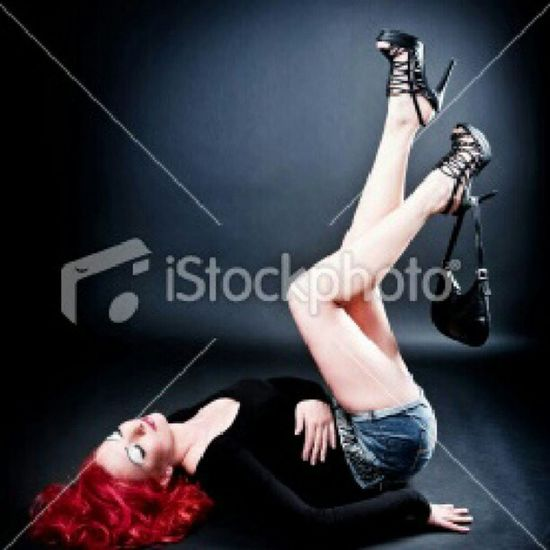 Detail Me on Istockphoto Young woman girl model shooting studiophotography Canon pinup red colour smiling smile easy relax fun shooting in italy istockers instamood instagram hair photo by @mauro_grigollo