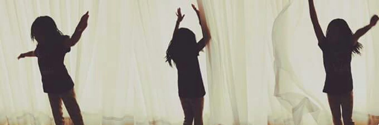 Silhouette Person Day Dancing Dancer Girly. Playing Passion Dance Childhood Happiness Happykid