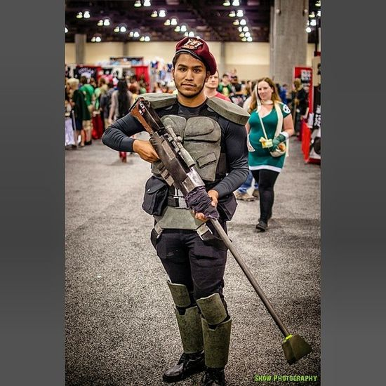 Very cool NCR armor from Fallout . Another shot from the Phoenixcomicon2014 PHXCC