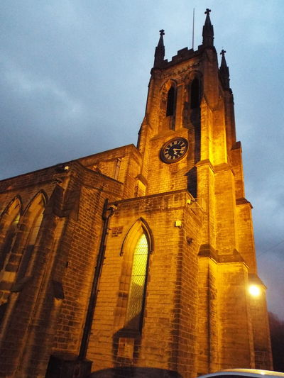 Stalybridge United Kingdom St Pauls Church Church Of England Night View