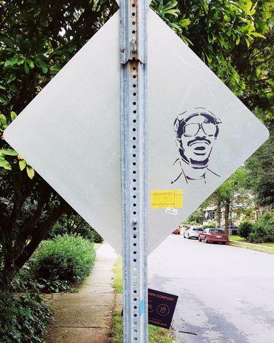 Hey Stevie! Tree Close-up Graffiti Street Art
