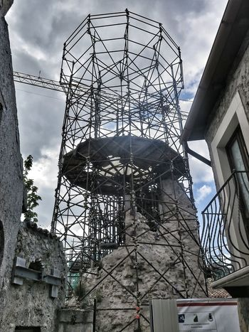 #abruzzo #architecture #disaster #earthquakedrill #italy #restoration #santostefanodisessanio #tower #photography