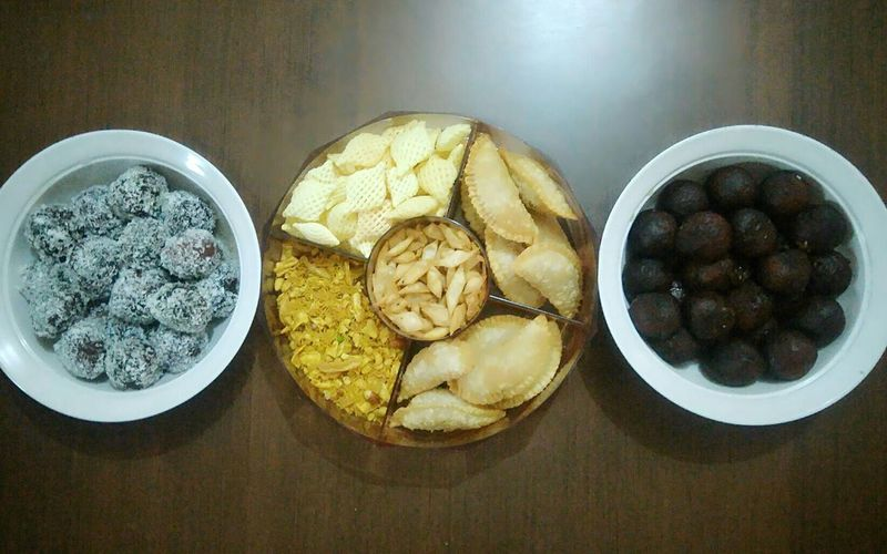 Indian Home made snacks for Holi
